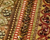 SALE! 20 Yards Bollywood  Embroidered Trim, Beaded trim,Sari Border , Sari ribbon