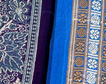 Silk Ribbon,Sari border,Sari Trim 2 colors, SR54