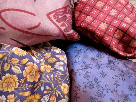 Silk Fat quarters 4 colors combo