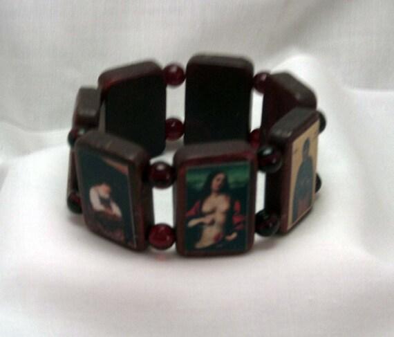 Mary Magdalene Wooden Devotional Bracelet (Small) Free U.S. Shipping.  Black Friday Cyber Monday 30% Off.