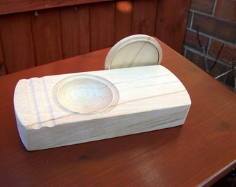 Custom Made Item - Lidded Paste Bowl in Welsh Sycamore:   Paper & Book Conservators and Bookbinders
