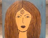 Goddess - 3rd Eye OPEN - decor wood burned box