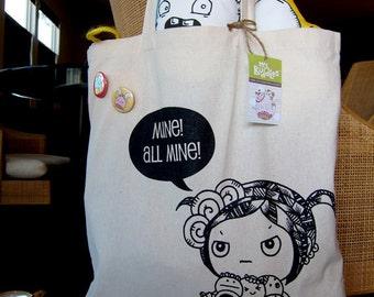Mine all mine canvas tote bag