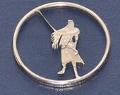 Coin cut charm. Final Fantasy char Sephiroth