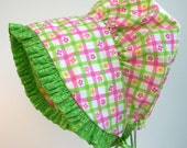 Sun Bonnet Green and Pink Floral Check - HeirloomsbyElisabeth