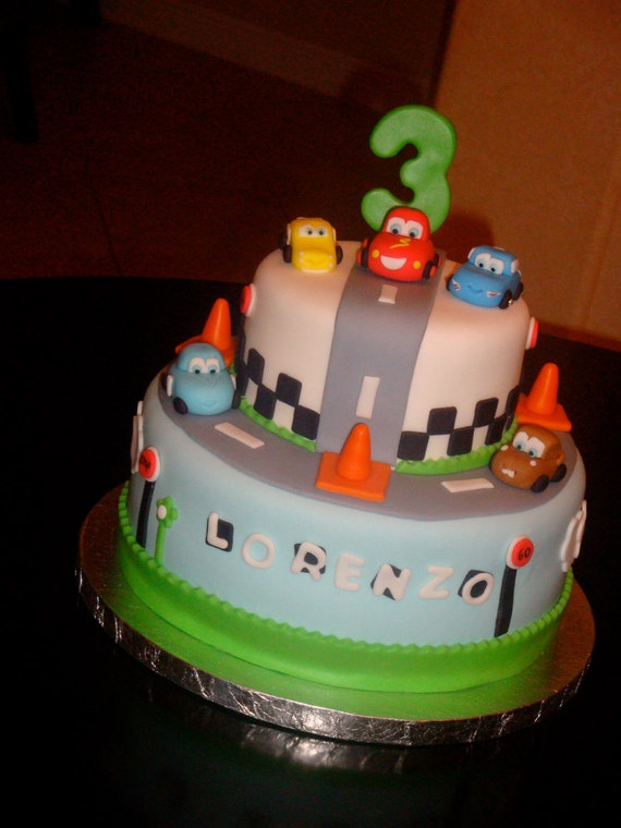 Edible Cake Images Disney Cars : Items similar to Edible 3D Cars Cake Toppers on Etsy