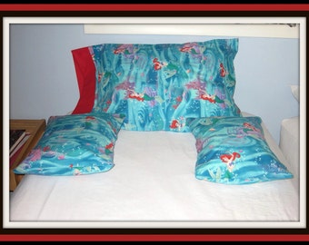 Little Mermaid Pillowcases-Set of Three