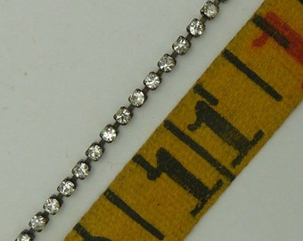 1 foot 2mm   rhinestone chain