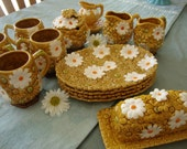 Instant Collection of Fred Roberts Gold Daisy Dishes