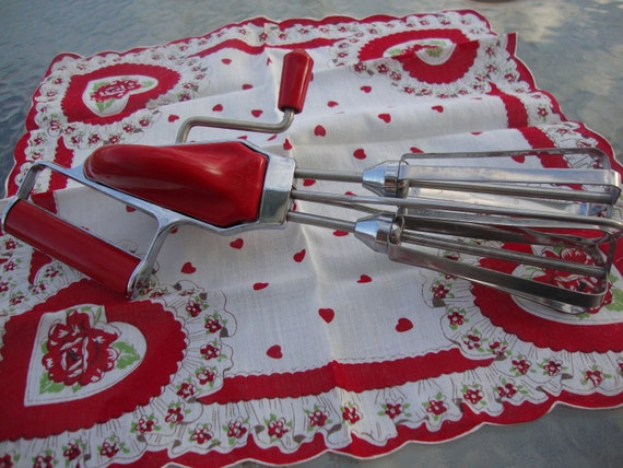 Red Vintage Maynard Hand Mixer No.77