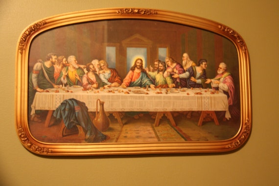 zabateri print of the last supper in beautiful frame