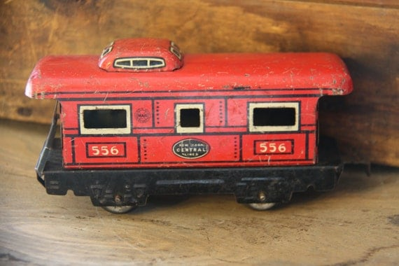 Marx Tin Litho New York Central Caboose 556