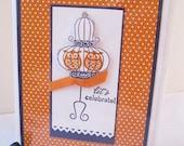 Handmade Owl Happy Birthday Card - Let's Celebrate