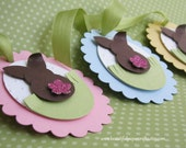 Bunny Tags - Happy Easter Tags - Easter Gift Tags  set of 3