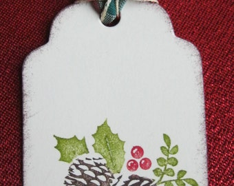 6-Christmas Gift Tags    Holiday Gift Tags    Pine Cone Tags    Gift Tags