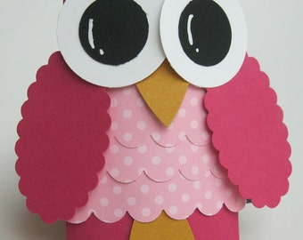 Owl Favor Boxes- Baby Shower Decorations -  Owl Birthday Party- Valentine's Day - Set of 12