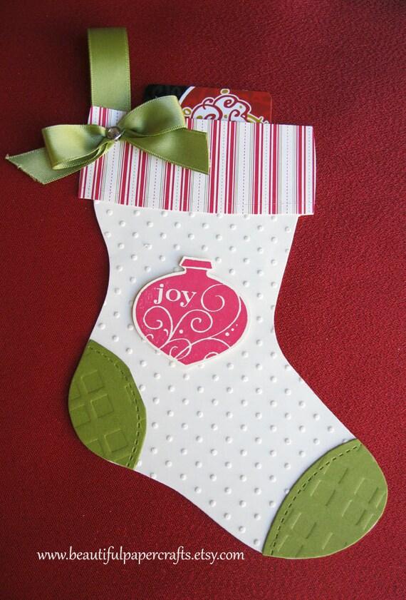 Christmas Stocking Gift Card Holder //  Christmas Gift Card Holder // Holiday Gift Card Hold // Ready to ship
