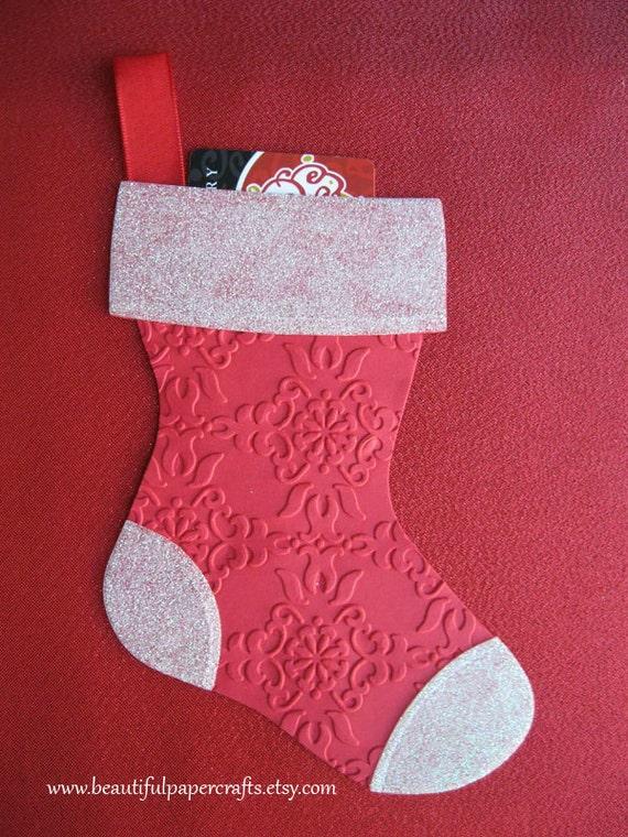 Christmas Gift Card Holder - Stocking Gift Card Holder - Money Holder - Holiday Gift Card Holder