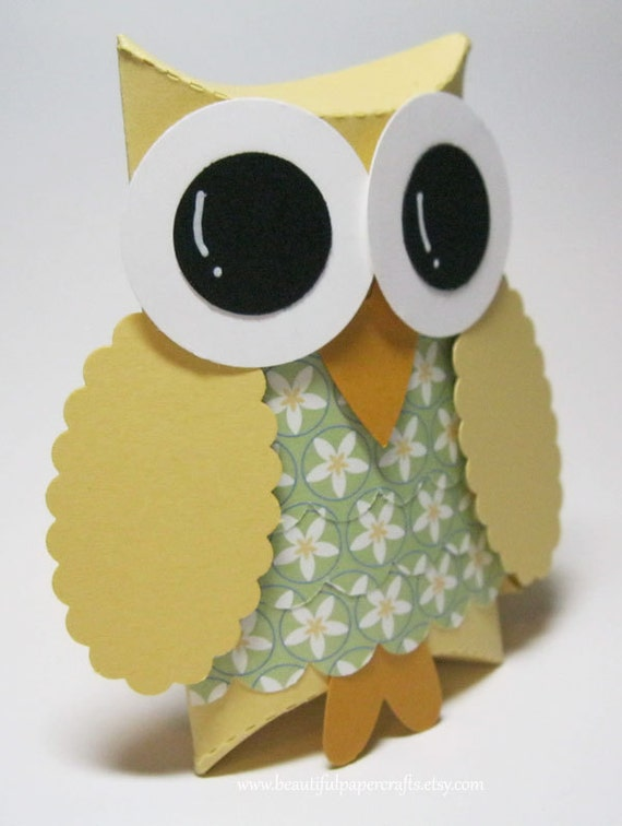 Reserved for (Michelle)-Owl Favor Boxes- Baby Shower Decorations -  Owl Birthday Party -