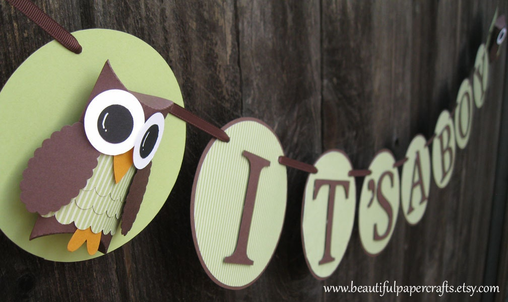 Popular items for owl banner on Etsy