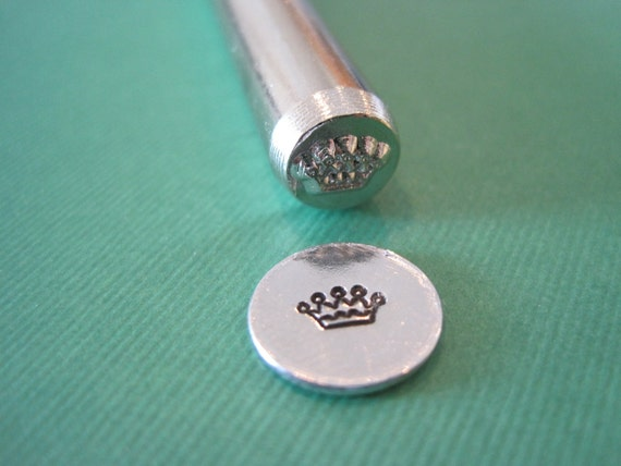Crown Metal Design Stamp for stamping personalized custom jewelry