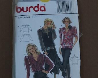 Burda Pattern 4993 Misses Blouse Size 12-14-16-18-20-22-24 1990s