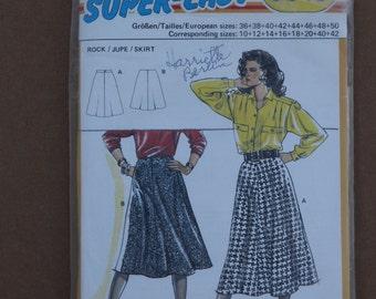 Burda Pattern 5845 Long Skirt  Size 10-42 1990s
