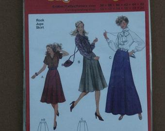 Misses Burda Pattern 8855 Skirt  Size 10-20 1990s
