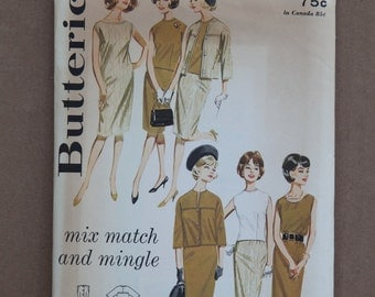 1960's Vintage Butterick Pattern 2542 Misses Size 14 Mix Match and Mingle wardrobe coordinates