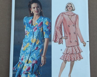 Butterick Pattern 4612 Misses Petite Top, Skirt and Scarf Size 12-16 1990s
