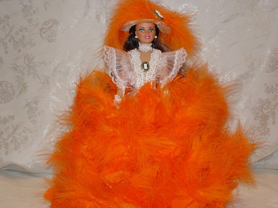 Glamour Doll/Barbie Doll/ Earrings/ Feather Doll/Feather Hats