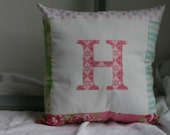 Pottery Barn Style Appliqued Pillow, Personalized Initial