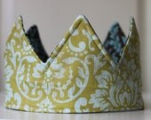 Prince Crown, Fabric Crown, Photo Prop, Birthday Hat, Knight