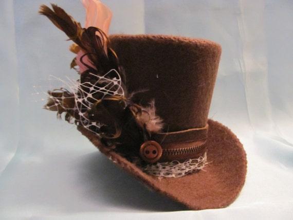 Chocolate Brown Mini Top Hat