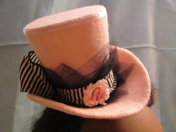 Pink Mini Top hat Carnival Striped