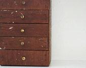 Vintage Catalogue, Antique Wooden Storage Drawers, Wooden Drawers, Storage Unit, Handmade Drawers