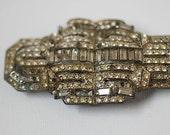 Vintage Rhinestone FUR Clip, Steam Punk Pendant Vintage Rhinestone Love Jewelry, Rhinestone Vintage, Valentines Boyfriend GIft, Daddy Gift