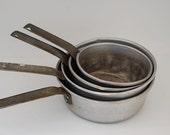 Metal Pots, Vintage Kitchen Decor, Made in The USA,  VINTAGE Cooking Pots, Mothers Day Gift,  Chef Gift,  Lot of Aluminum Pots