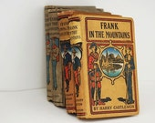 Antique Book Bundle, Harry Castlemon , Lot of Hardcover Books,  Early Literature, Home Decor,  Hardcover Books, Late 19th Century Fiction,