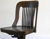 Oak Swivel Chair, Antique Mable and Shattuck Chair, Oak Desk Chair, Gift For Author Writer, Early 1900's Office Chair, Sole Bureau
