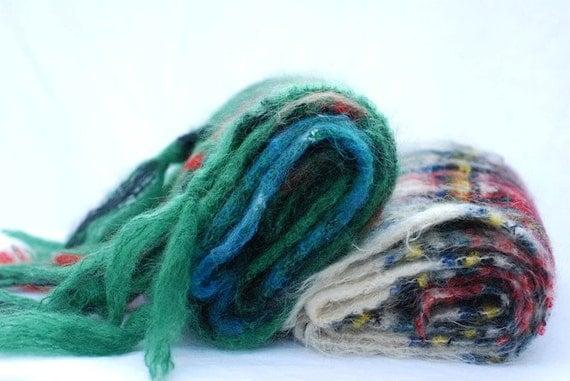 Vintage Wool scarf, Vintage mohair scarf, Wool scarf, made in Scotland, Scottish plaid scarf, Vintage wool,