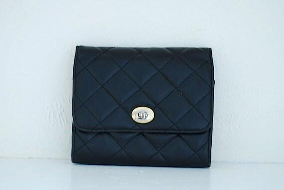 Vintage Purse, Vintage Clutch, Vintage Black Clutch, Black Handbag, Pouch, Vintage Pocketbook, Change Purse