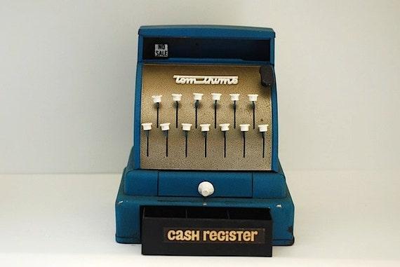 Vintage Tom Thumb Cash Register, Vintage Children's Toy, Toy Metal Cash Register, Children's Collectable