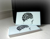 Mini Card Pack - 24 Cards - Pale Blue Phrenology Head