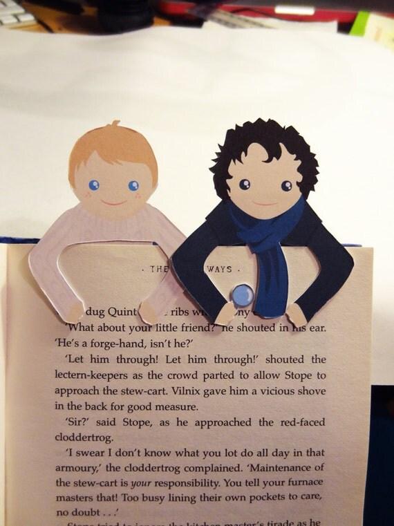Sherlock & John Bookmark set
