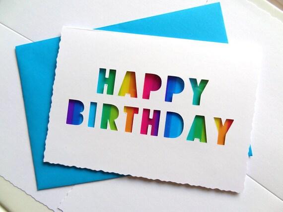 Transparent Rainbow Birthday Card