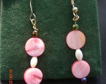 SALE PRICE REDUCED Pretty In Pink Dangle Earrings
