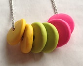 NEON Disk Pendant - Yellow/Lime/Pink
