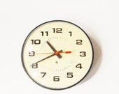 ON SALE - Vintage School Clock