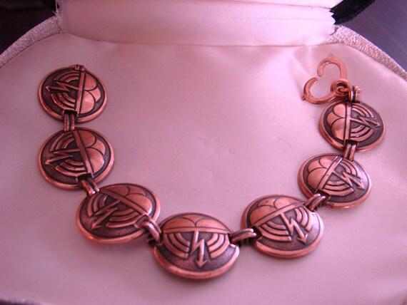 Artisan Retro Copper Link Bracelet (Unknown Designer)